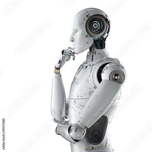 Humanoides Roboterdenken Fototapete