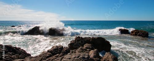 Photo Rocky Coastline at Cerritos Beach near Todos Santos in Baja California Mexico BC