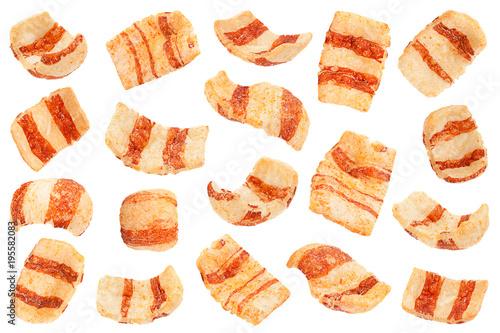 Fotografía  Pelleted salted snack bacon collection