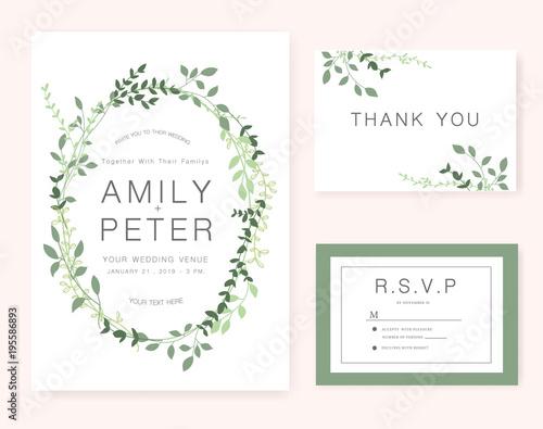 Obraz wedding invitation card - fototapety do salonu
