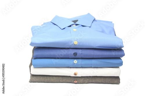 camisa planchada y doblada en la tintoreria Fototapet
