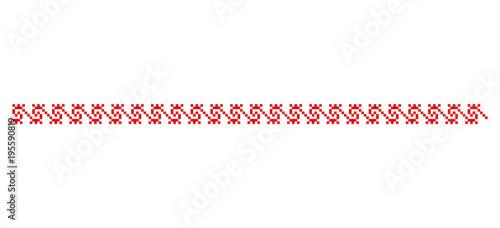 Traditional Romanian folk art knitted embroidery pattern Slika na platnu