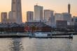 横浜みなとみらい冬の夕焼けと都市風景7