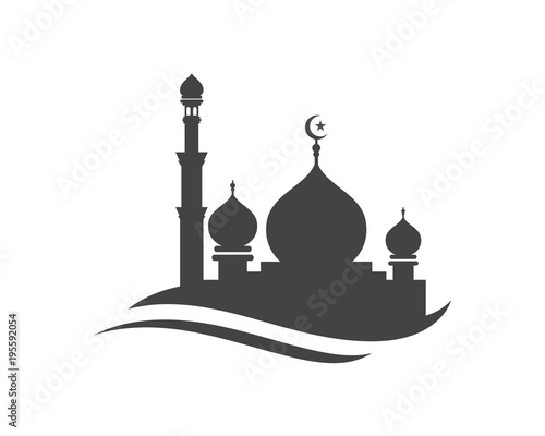 Obraz na plátne Mosque icon vector Illustration
