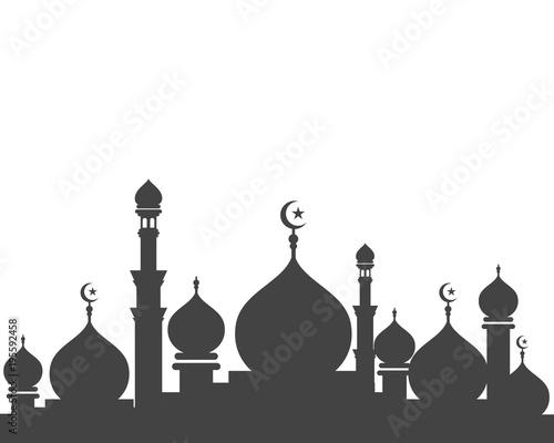Obraz na płótnie Mosque icon vector Illustration