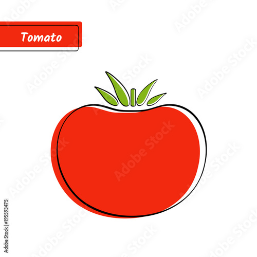 Flat design vegetable education card  Vector illustration