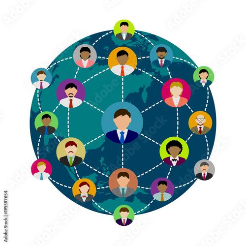 people's global communication illustration