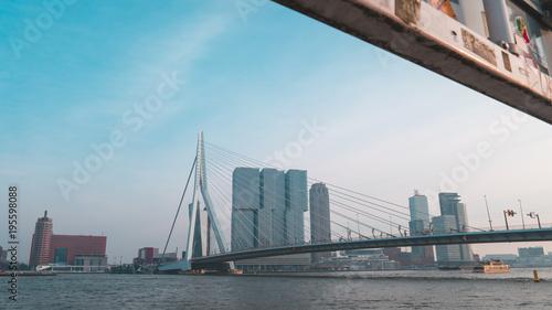 Staande foto Rotterdam Erasmus bridge in Rotterdam