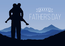 Happy Father Day With Silhouet...