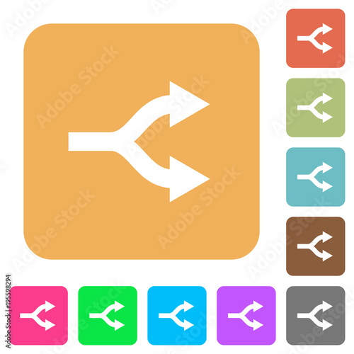 Fényképezés  Split arrows rounded square flat icons