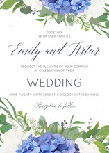 Wedding Floral Invite, Invitat...