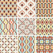 Retro Abstract Seamless Patter...