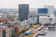 Aerial View Of The Harbor Of Antwerp From The Roof Terrace Of The MAS Museum