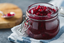 Traditional Scandinavian Jam With Cowberry And Juniper
