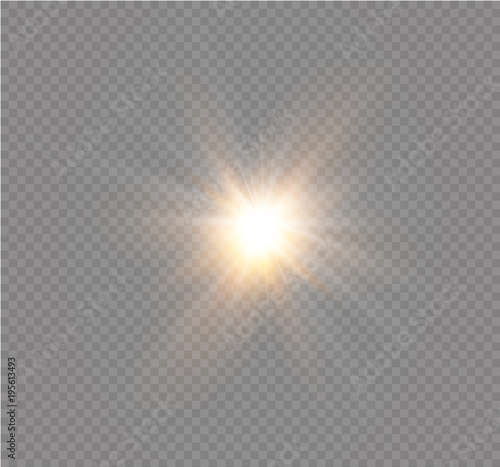 Fototapety, obrazy: star on a transparent background,light effect,vector illustration. burst with sparkles.