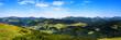 Panaoramaaussicht vom Unterberghorn zu den Chiemgauer Alpen