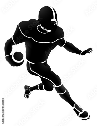 Photo  Silhouette American Football Player