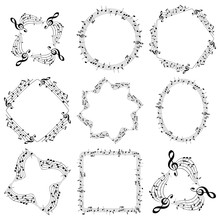 Vector Decorative Music Frames...