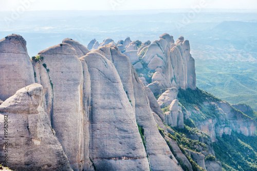Fotografija  Landscape of mountain Montserrat with rocks near Barcelona, Spain