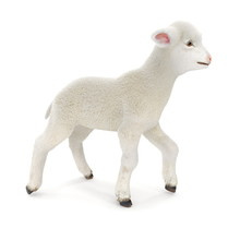 Lamb Standing Up, Isolated On A White. 3D Illustration