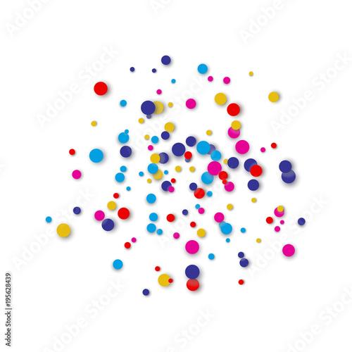 Fototapeta Festive Circular Colorful Confetti Background obraz na płótnie