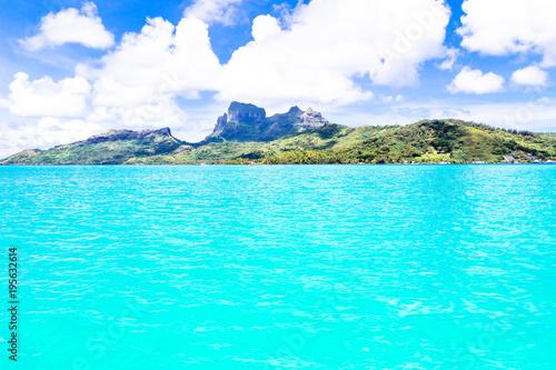 Poster Groene koraal Bora Bora Island, French Polynesia.