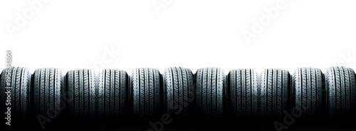 Canvastavla  Tyre close up