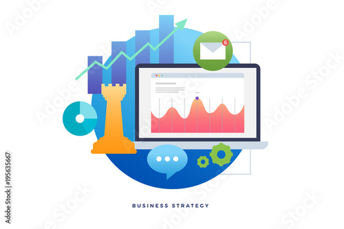business strategy planning analyzing project financial report