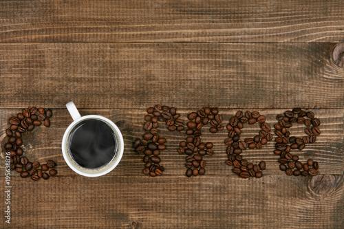 Fotografia, Obraz  Word Coffee On Wooden Background
