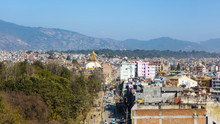 Boudhanath Road And Boudhanath...