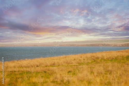 Papiers peints Beige Sunrise over the steppe