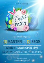 Easter Egg Party Vector Poster...