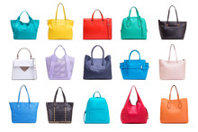 A Collection Of Various Women's Bags.