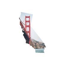 Silhouette Of California Featu...