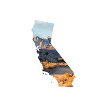 Silhouette Of California Featuring A Rock Climber In The Eastern Sierra Nevada Mountains Near Bishop