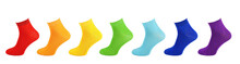 Cotton Socks, All Colors, Colorful Collection Of Socks, Sock Isolate