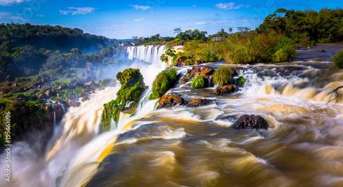 Fotografie, Obraz  Puerto Iguazu - June 24, 2017: Landscape of the Iguazu Waterfalls, Wonder of the