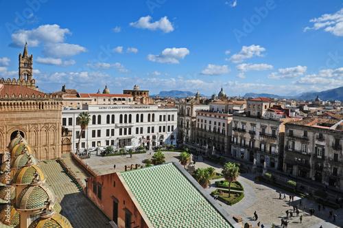 Recess Fitting Nice Panorama di Palermo dai tetti della cattedrale - Sicilia
