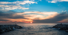 Sunset At The Jetty In Carlsba...