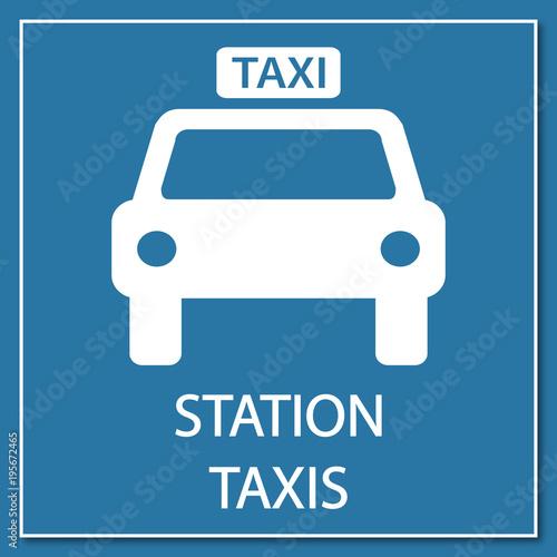 Fotografía Logo station taxis.