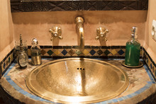 Brass Basin And Faucet With Pa...