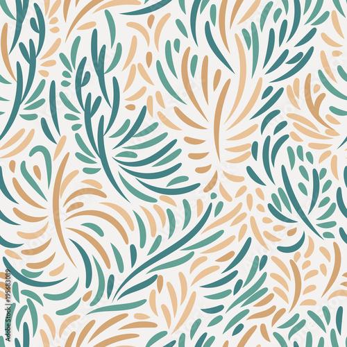 wzor-w-pomaranczowe-i-zielone-liscie-abstrakcyjne-gryzmoly