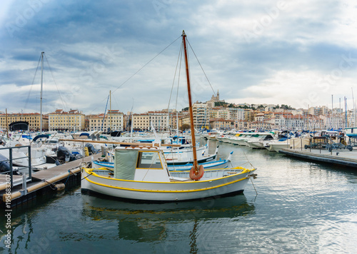 Foto op Aluminium Strand yacht club of Marseille, France