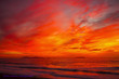 canvas print picture - Red Sunset