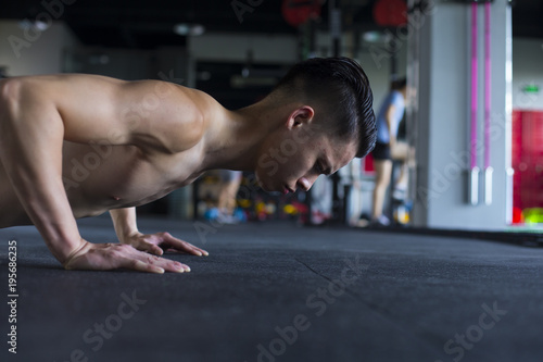 Young people workout in the gym