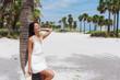 Beautiful girl on the beach in Miami