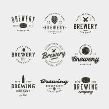 Set Of Vintage Brewery Logos. ...