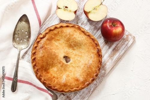 Fotografie, Obraz  Homemade old fashined Apple Pie