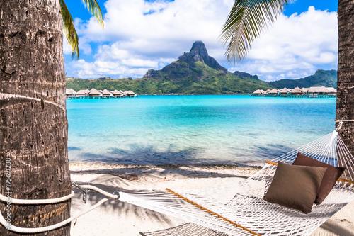 Photo sur Aluminium Cappuccino Bora Bora Island, French Polynesia.