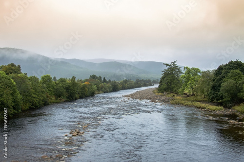 Royal Deeside and River Dee, Ballater, Scotland, United Kingdom Poster Mural XXL
